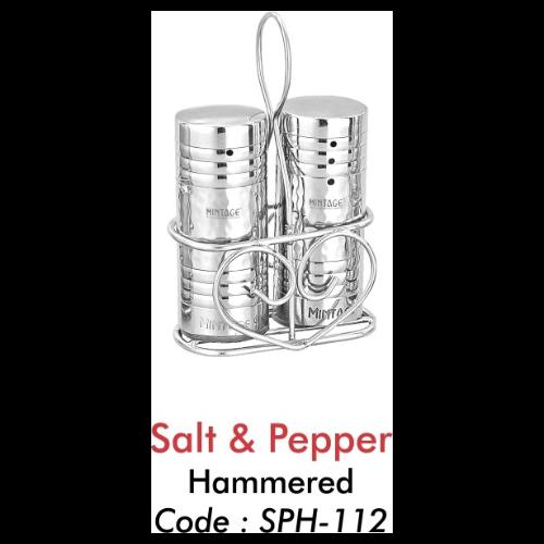 MINTAGE HAMMERED SALT & PEPPER