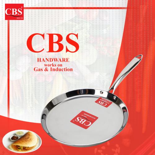CBS STAINLESS STEEL TRIPLY TAWA